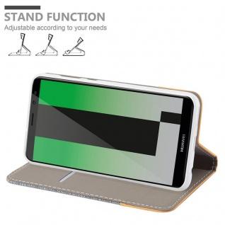 Cadorabo Hülle für Huawei MATE 10 LITE in HELL GRAU BRAUN - Handyhülle mit Magnetverschluss, Standfunktion und Kartenfach - Case Cover Schutzhülle Etui Tasche Book Klapp Style - Vorschau 3