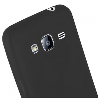 Cadorabo Hülle für Samsung Galaxy J3 2015 in CANDY SCHWARZ - Handyhülle aus flexiblem TPU Silikon - Silikonhülle Schutzhülle Ultra Slim Soft Back Cover Case Bumper - Vorschau 5