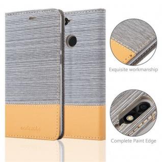 Cadorabo Hülle für Huawei Y6 PRO 2017 in HELL GRAU BRAUN - Handyhülle mit Magnetverschluss, Standfunktion und Kartenfach - Case Cover Schutzhülle Etui Tasche Book Klapp Style - Vorschau 2