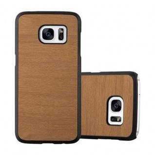 Cadorabo Hülle für Samsung Galaxy S7 in WOODY BRAUN ? Hardcase Handyhülle aus Plastik gegen Kratzer und Stöße ? Schutzhülle Bumper Ultra Slim Back Case Hard Cover