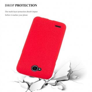 Cadorabo Hülle für LG X POWER 2 in FROST ROT - Handyhülle aus flexiblem TPU Silikon - Silikonhülle Schutzhülle Ultra Slim Soft Back Cover Case Bumper - Vorschau 4