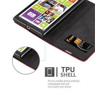 Cadorabo Hülle für Nokia Lumia 1020 in APFEL ROT - Handyhülle mit Magnetverschluss, Standfunktion und Kartenfach - Case Cover Schutzhülle Etui Tasche Book Klapp Style - Vorschau 3