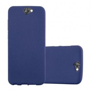 Cadorabo Hülle für HTC ONE A9 in FROST DUNKEL BLAU - Handyhülle aus flexiblem TPU Silikon - Silikonhülle Schutzhülle Ultra Slim Soft Back Cover Case Bumper