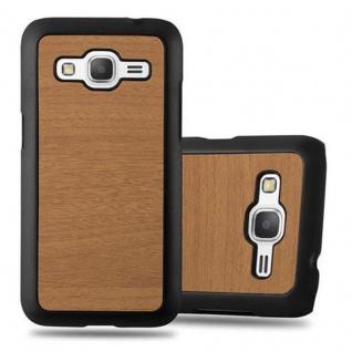 Cadorabo Hülle für Samsung Galaxy CORE PRIME in WOODY BRAUN ? Hardcase Handyhülle aus Plastik gegen Kratzer und Stöße ? Schutzhülle Bumper Ultra Slim Back Case Hard Cover