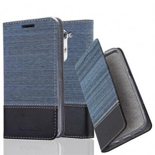 Cadorabo Hülle für LG G3 MINI / G3S in DUNKEL BLAU SCHWARZ - Handyhülle mit Magnetverschluss, Standfunktion und Kartenfach - Case Cover Schutzhülle Etui Tasche Book Klapp Style