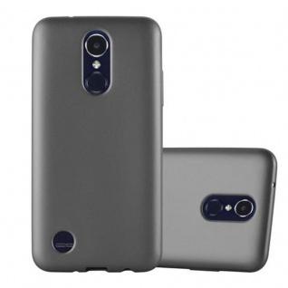 Cadorabo Hülle für LG K8 2017 in METALLIC GRAU - Handyhülle aus flexiblem TPU Silikon - Silikonhülle Schutzhülle Ultra Slim Soft Back Cover Case Bumper