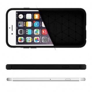 Cadorabo Hülle für Apple iPhone 8 PLUS / iPhone 7 PLUS / iPhone 7S PLUS - Hülle in BRUSHED SCHWARZ - Handyhülle aus TPU Silikon in Edelstahl-Karbonfaser Optik - Silikonhülle Schutzhülle Ultra Slim Soft Back Cover Case Bumper - Vorschau 4