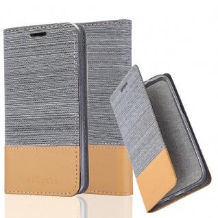 Cadorabo Hülle für BQ Aquaris M5 in HELL GRAU BRAUN - Handyhülle mit Magnetverschluss, Standfunktion und Kartenfach - Case Cover Schutzhülle Etui Tasche Book Klapp Style