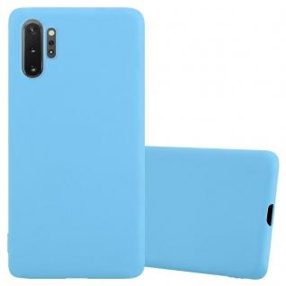 Cadorabo Hülle für Samsung Galaxy Note 10 PRO in CANDY BLAU Handyhülle aus flexiblem TPU Silikon Silikonhülle Schutzhülle Ultra Slim Soft Back Cover Case Bumper
