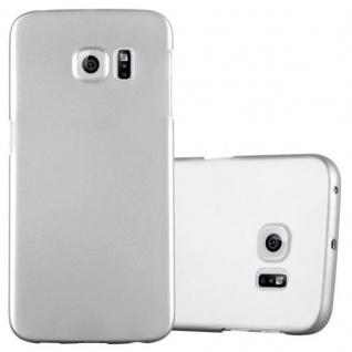 Cadorabo Hülle für Samsung Galaxy S6 EDGE in METALL SILBER Hardcase Handyhülle aus Plastik gegen Kratzer und Stöße Schutzhülle Bumper Ultra Slim Back Case Hard Cover