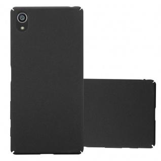 Cadorabo Hülle für Sony Xperia Z5 in FROSTY SCHWARZ - Hardcase Handyhülle aus Plastik gegen Kratzer und Stöße - Schutzhülle Bumper Ultra Slim Back Case Hard Cover