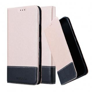 Cadorabo Hülle für Nokia Lumia 1320 in ROSÉ GOLD SCHWARZ ? Handyhülle mit Magnetverschluss, Standfunktion und Kartenfach ? Case Cover Schutzhülle Etui Tasche Book Klapp Style