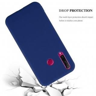 Cadorabo Hülle für Honor 10i / 20i / 20 LITE / Huawei Enjoy 9s in CANDY DUNKEL BLAU Handyhülle aus flexiblem TPU Silikon Silikonhülle Schutzhülle Ultra Slim Soft Back Cover Case Bumper