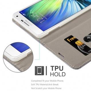 Cadorabo Hülle für Samsung Galaxy A7 2015 in HELL GRAU BRAUN - Handyhülle mit Magnetverschluss, Standfunktion und Kartenfach - Case Cover Schutzhülle Etui Tasche Book Klapp Style - Vorschau 3