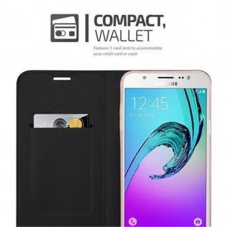 Cadorabo Hülle für Samsung Galaxy J5 2016 in CLASSY SCHWARZ - Handyhülle mit Magnetverschluss, Standfunktion und Kartenfach - Case Cover Schutzhülle Etui Tasche Book Klapp Style - Vorschau 3
