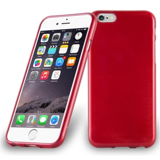 Cadorabo Hülle für Apple iPhone 6 PLUS / iPhone 6S PLUS in ROT Handyhülle aus flexiblem TPU Silikon Silikonhülle Schutzhülle Ultra Slim Soft Back Cover Case Bumper