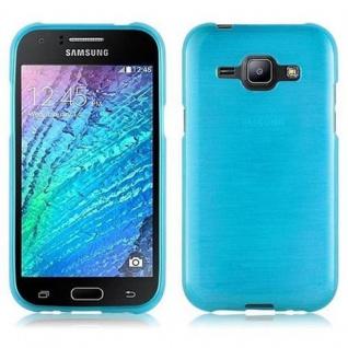 Cadorabo Hülle für Samsung Galaxy J1 2015 in TÜRKIS - Handyhülle aus flexiblem TPU Silikon - Silikonhülle Schutzhülle Ultra Slim Soft Back Cover Case Bumper