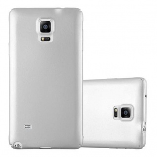 Cadorabo Hülle für Samsung Galaxy NOTE 4 in METALL SILBER - Hardcase Handyhülle aus Plastik gegen Kratzer und Stöße - Schutzhülle Bumper Ultra Slim Back Case Hard Cover