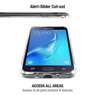 Cadorabo Hülle für Samsung Galaxy J3 2015 (5) - Hülle in KOMPLETT TRANSPARENT - Handyhülle aus TPU Silikon mit Schlaufe im Small Waist Design - Silikonhülle Schutzhülle Ultra Slim Soft Back Cover Case Bumper - Vorschau 4