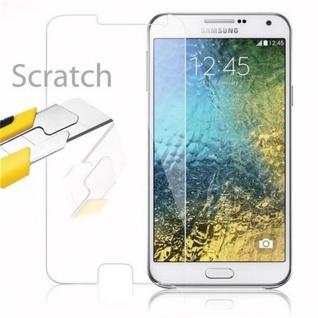 Cadorabo Panzer Folie für Samsung Galaxy E7 - Schutzfolie in KRISTALL KLAR - Gehärtetes (Tempered) Display-Schutzglas in 9H Härte mit 3D Touch Kompatibilität - Vorschau 2