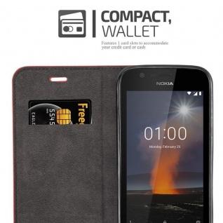 Cadorabo Hülle für Nokia 1 2017 in APFEL ROT - Handyhülle mit Magnetverschluss, Standfunktion und Kartenfach - Case Cover Schutzhülle Etui Tasche Book Klapp Style - Vorschau 3