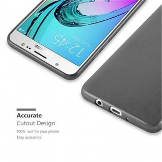 Cadorabo Hülle für Samsung Galaxy J5 2016 in METALLIC GRAU - Handyhülle aus flexiblem TPU Silikon - Silikonhülle Schutzhülle Ultra Slim Soft Back Cover Case Bumper - Vorschau 2