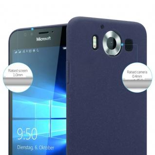 Cadorabo Hülle für Nokia Lumia 950 in FROSTY BLAU - Hardcase Handyhülle aus Plastik gegen Kratzer und Stöße - Schutzhülle Bumper Ultra Slim Back Case Hard Cover - Vorschau 3