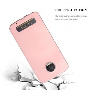 Cadorabo Hülle für Motorola MOTO Z2 PLAY in METALL ROSÉ GOLD - Hardcase Handyhülle aus Plastik gegen Kratzer und Stöße - Schutzhülle Bumper Ultra Slim Back Case Hard Cover - Vorschau 3