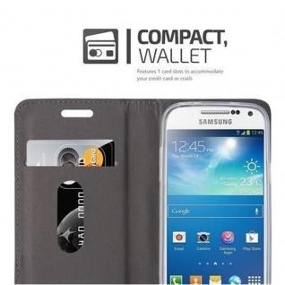 Cadorabo Hülle für Samsung Galaxy S4 MINI in DUNKEL BLAU SCHWARZ - Handyhülle mit Magnetverschluss, Standfunktion und Kartenfach - Case Cover Schutzhülle Etui Tasche Book Klapp Style - Vorschau 3