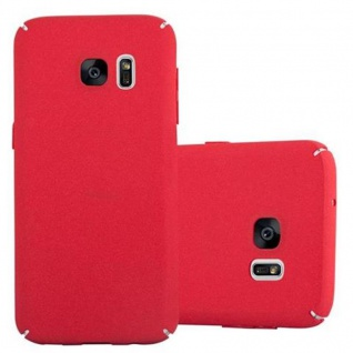Cadorabo Hülle für Samsung Galaxy S7 in FROSTY ROT Hardcase Handyhülle aus Plastik gegen Kratzer und Stöße Schutzhülle Bumper Ultra Slim Back Case Hard Cover