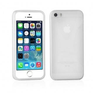 Cadorabo Hülle für Apple iPhone 5 / iPhone 5S / iPhone SE - Hülle in HALB TRANSPARENT ? Handyhülle aus flexiblem TPU Silikon im X-Line Design - Ultra Slim Soft Backcover Case Bumper