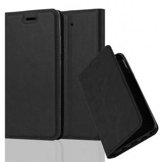 Cadorabo Hülle für Xiaomi Mi 5S in NACHT SCHWARZ - Handyhülle mit Magnetverschluss, Standfunktion und Kartenfach - Case Cover Schutzhülle Etui Tasche Book Klapp Style