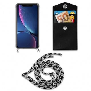 Cadorabo Handy Kette für Apple iPhone 11 PRO MAX (XI PRO MAX) in SCHWARZ CAMOUFLAGE - Silikon Necklace Umhänge Hülle mit Silber Ringen, Kordel Band Schnur und abnehmbarem Etui - Schutzhülle - Vorschau 5