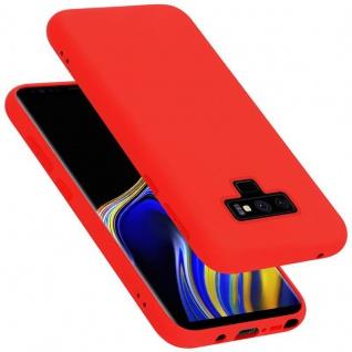 Cadorabo Hülle für Samsung Galaxy NOTE 9 in LIQUID ROT Handyhülle aus flexiblem TPU Silikon Silikonhülle Schutzhülle Ultra Slim Soft Back Cover Case Bumper