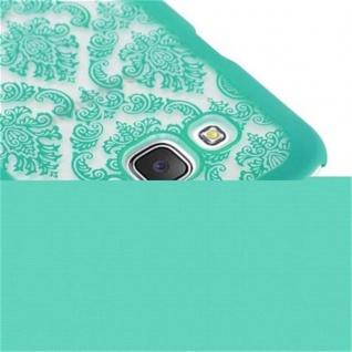 Samsung Galaxy J5 2015 Hardcase Hülle in GRÜN von Cadorabo - Blumen Paisley Henna Design Schutzhülle ? Handyhülle Bumper Back Case Cover - Vorschau 4
