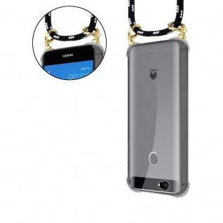 Cadorabo Handy Kette für Huawei NOVA in SCHWARZ SILBER - Silikon Necklace Umhänge Hülle mit Gold Ringen, Kordel Band Schnur und abnehmbarem Etui ? Schutzhülle - Vorschau 5