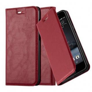 Cadorabo Hülle für HTC One A9 in APFEL ROT Handyhülle mit Magnetverschluss, Standfunktion und Kartenfach Case Cover Schutzhülle Etui Tasche Book Klapp Style