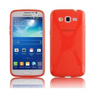 Cadorabo Hülle für Samsung Galaxy GRAND 2 in INFERNO ROT ? Handyhülle aus flexiblem TPU Silikon ? Silikonhülle Schutzhülle Ultra Slim Soft Back Cover Case Bumper