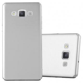 Cadorabo Hülle für Samsung Galaxy A5 2015 in METALL SILBER - Hardcase Handyhülle aus Plastik gegen Kratzer und Stöße - Schutzhülle Bumper Ultra Slim Back Case Hard Cover