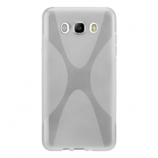 Cadorabo Hülle für Samsung Galaxy J7 2016 in HALB TRANSPARENT ? Handyhülle aus flexiblem TPU Silikon ? Silikonhülle Schutzhülle Ultra Slim Soft Back Cover Case Bumper