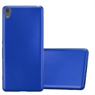 Cadorabo Hülle für Sony Xperia XA in METALLIC BLAU - Handyhülle aus flexiblem TPU Silikon - Silikonhülle Schutzhülle Ultra Slim Soft Back Cover Case Bumper