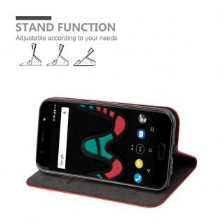 Cadorabo Hülle für WIKO WIM in APFEL ROT Handyhülle mit Magnetverschluss, Standfunktion und Kartenfach Case Cover Schutzhülle Etui Tasche Book Klapp Style - Vorschau 3