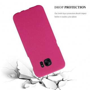 Cadorabo Hülle für Samsung Galaxy S7 EDGE in FROSTY PINK - Hardcase Handyhülle aus Plastik gegen Kratzer und Stöße - Schutzhülle Bumper Ultra Slim Back Case Hard Cover - Vorschau 4