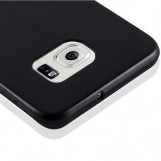 Cadorabo Hülle für Samsung Galaxy S6 EDGE PLUS in SCHWARZ - Handyhülle aus flexiblem TPU Silikon - Silikonhülle Schutzhülle Ultra Slim Soft Back Cover Case Bumper - Vorschau 4