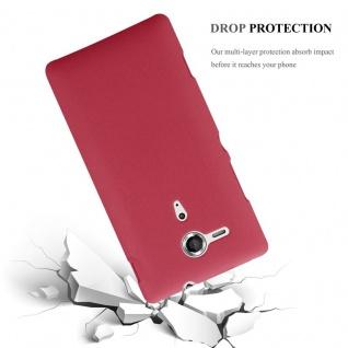 Cadorabo Hülle für Sony Xperia SP in FROSTY ROT - Hardcase Handyhülle aus Plastik gegen Kratzer und Stöße - Schutzhülle Bumper Ultra Slim Back Case Hard Cover - Vorschau 4