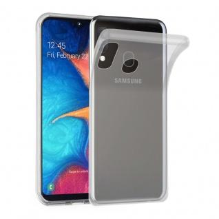 Cadorabo Hülle für Samsung Galaxy A20e in VOLL TRANSPARENT Handyhülle aus flexiblem TPU Silikon Silikonhülle Schutzhülle Ultra Slim Soft Back Cover Case Bumper