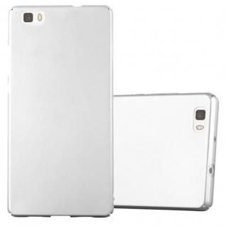 Cadorabo Hülle für Huawei P8 LITE 2015 in METALL SILBER ? Hardcase Handyhülle aus Plastik gegen Kratzer und Stöße ? Schutzhülle Bumper Ultra Slim Back Case Hard Cover