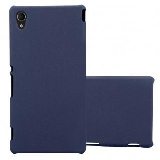 Cadorabo Hülle für Sony Xperia M4 AQUA in FROSTY BLAU Hardcase Handyhülle aus Plastik gegen Kratzer und Stöße Schutzhülle Bumper Ultra Slim Back Case Hard Cover