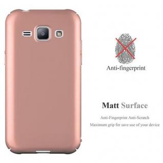 Cadorabo Hülle für Samsung Galaxy J1 2015 in METALL ROSE GOLD - Hardcase Handyhülle aus Plastik gegen Kratzer und Stöße - Schutzhülle Bumper Ultra Slim Back Case Hard Cover - Vorschau 2