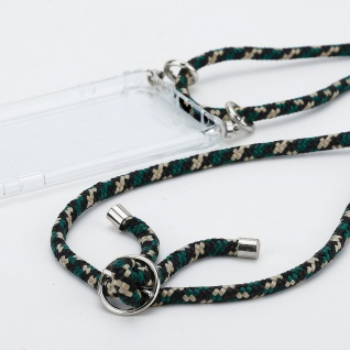 Cadorabo Handy Kette für Honor 9x Lite in CAMOUFLAGE Silikon Necklace Umhänge Hülle mit Silber Ringen, Kordel Band Schnur und abnehmbarem Etui Schutzhülle - Vorschau 2